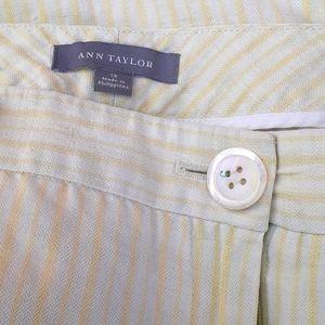 Ann Taylor Cream yellow wide leg 12 pants capris